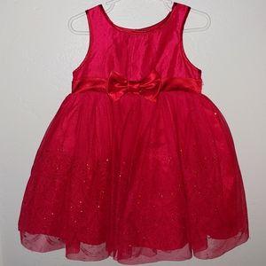 Red glitter tulle dress, 2T, Oshkosh